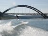 Tom Fooshee riding for the Jake Owen crowd - 360 bridge