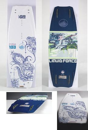 2005 liquid force fish 133 wakeboard review wakeboarder for Liquid force fish